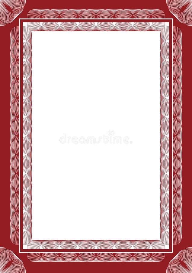 ramowy guilloche royalty ilustracja