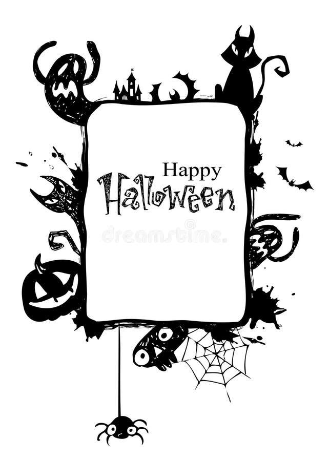 ramowy Halloween ilustracja wektor
