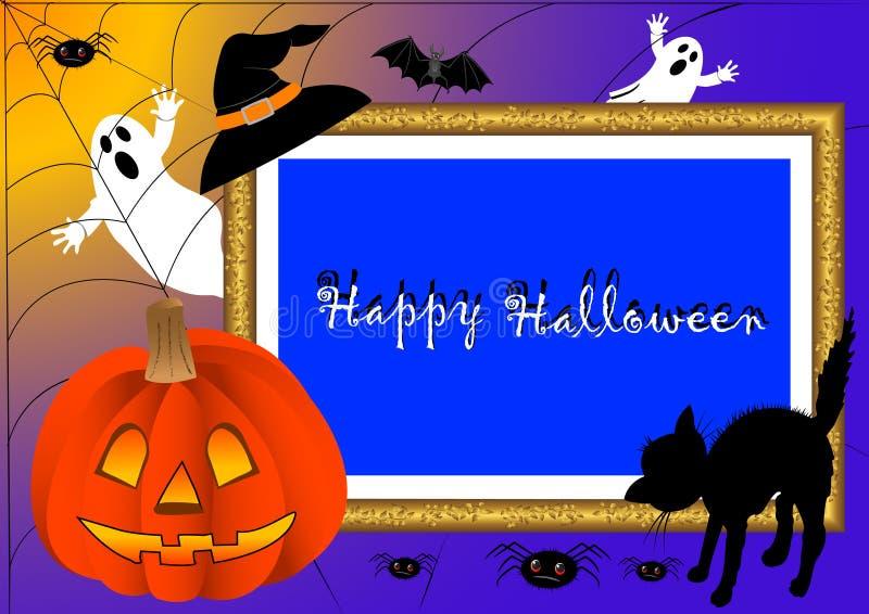ramowy Halloween fotografii wektor royalty ilustracja