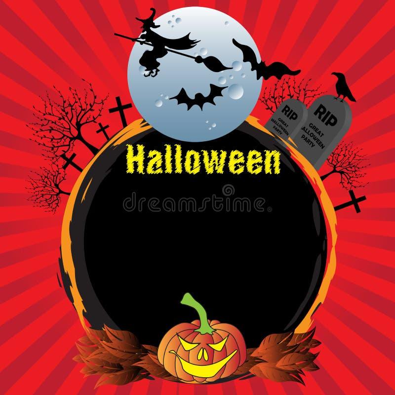 ramowy Halloween zaokrąglał royalty ilustracja