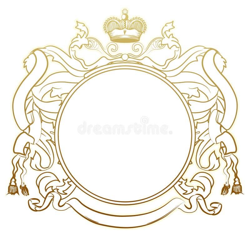 ramowy heraldyczny luksus royalty ilustracja