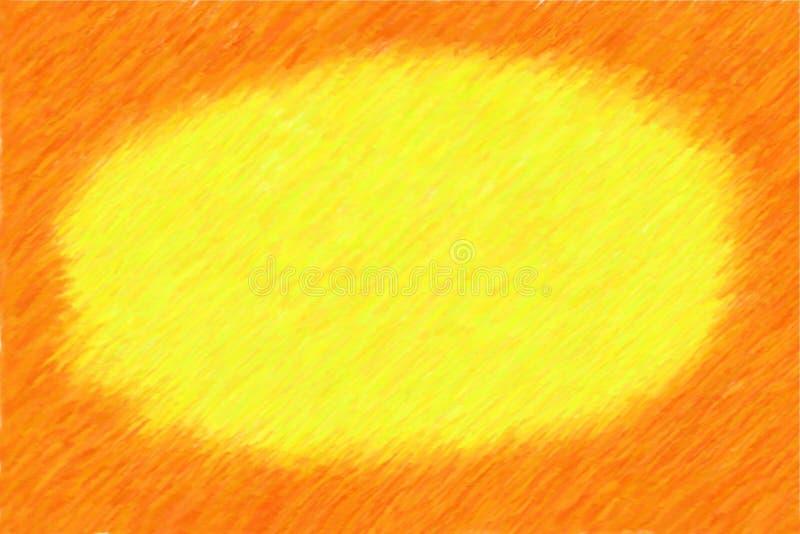 ramowy ilustracyjny pomarańczowy nakreślenie royalty ilustracja