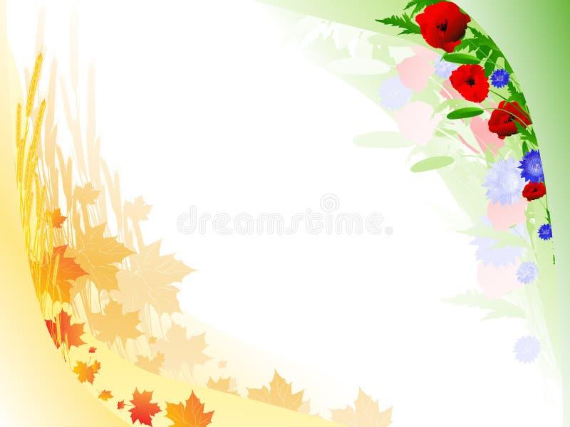 ramowy jesień lato royalty ilustracja