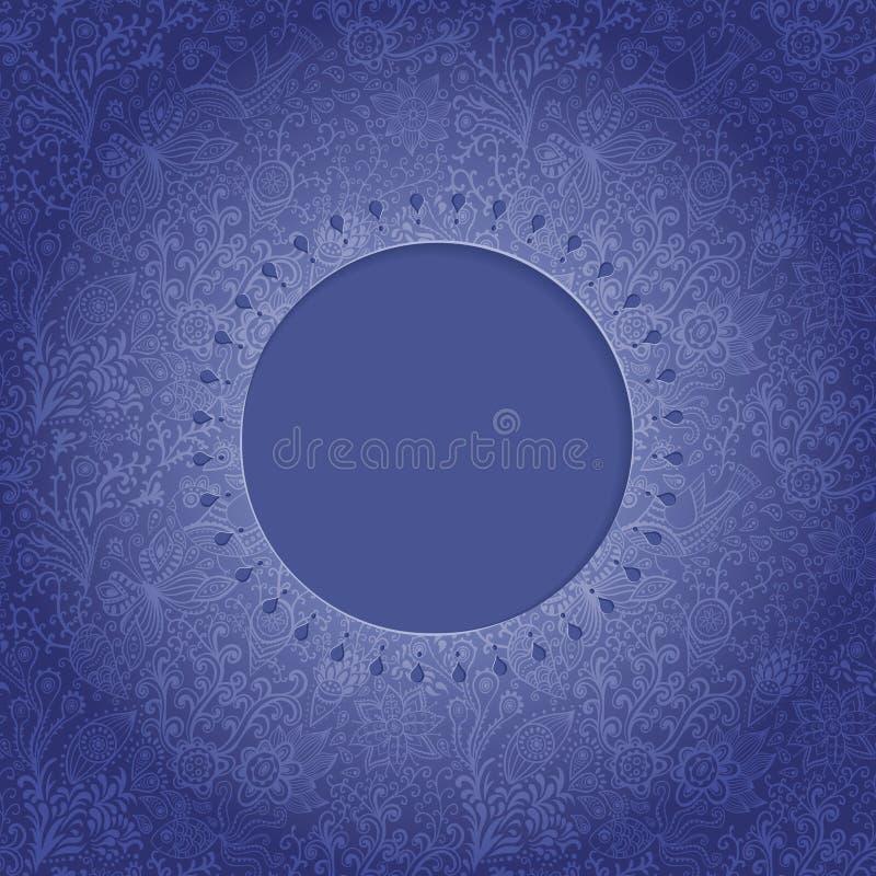 ramowy koronkowy ornamentacyjny round Tło dla świętowań, holida ilustracja wektor