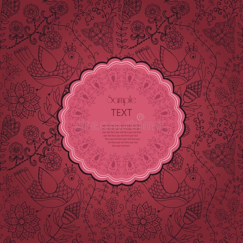 ramowy koronkowy ornamentacyjny round Tło dla świętowań, holida ilustracji
