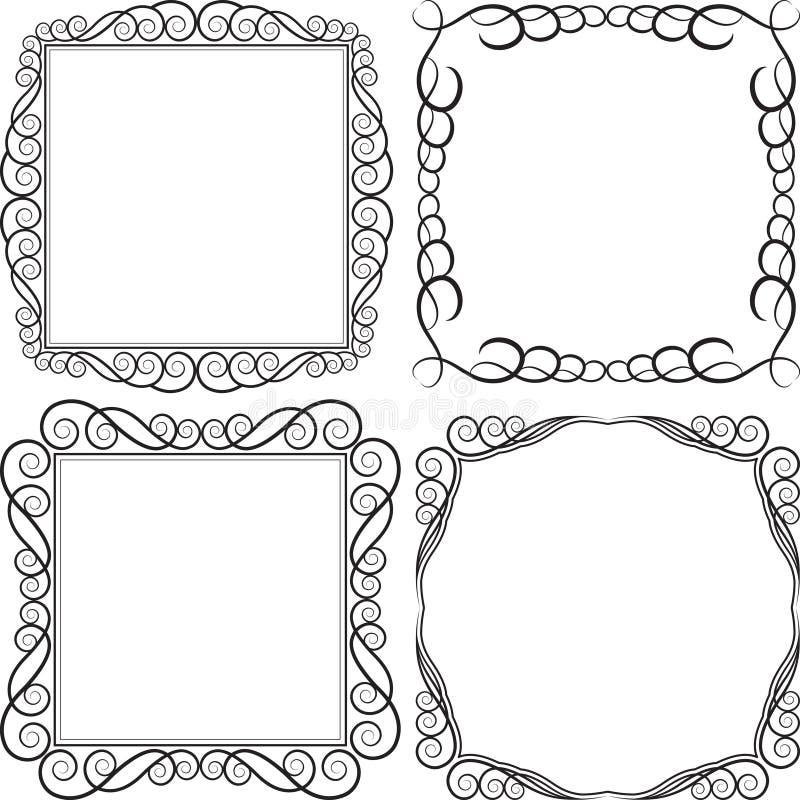 Download Ramowy kwadrat ilustracja wektor. Obraz złożonej z wyznaczający - 25452645