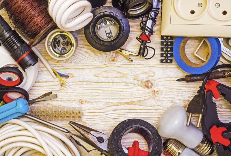 Ramowy narzędziowy elektryk zdjęcie royalty free