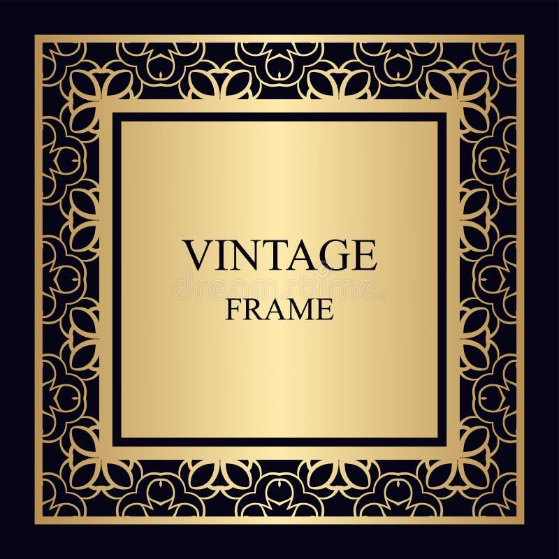 ramowy ornamentacyjny rocznik zdjęcia stock