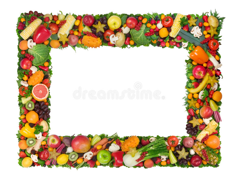 ramowy owocowy warzywo zdjęcie royalty free