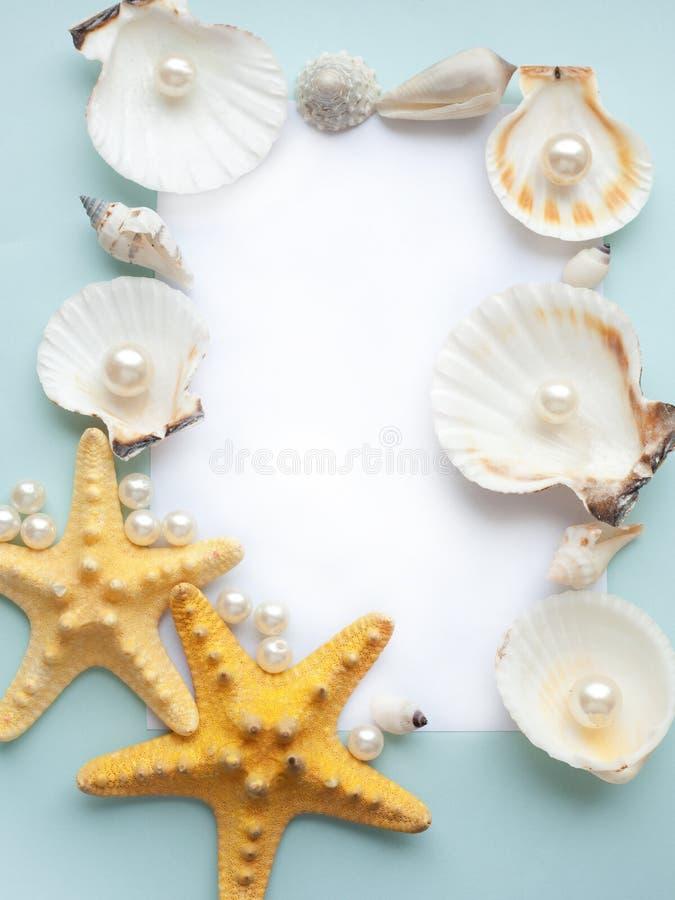 ramowy pastelowy morze zdjęcia royalty free