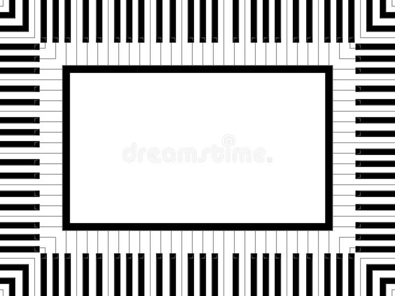 ramowy pianino royalty ilustracja