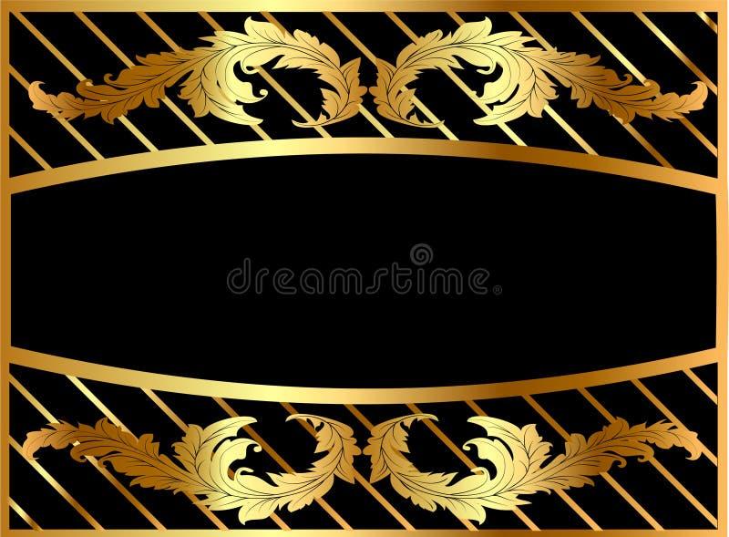 ramowy pozłoty ilustraci wzór royalty ilustracja