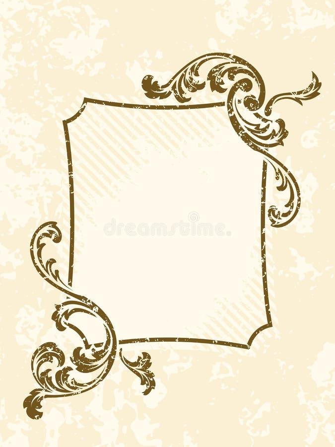 ramowy prostokątny sepiowy rocznik royalty ilustracja