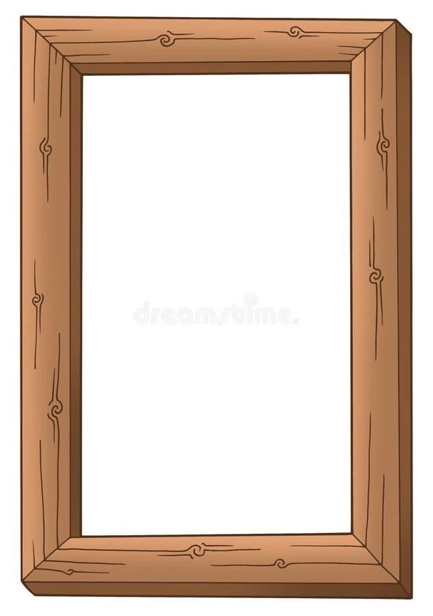 ramowy prosty drewniany royalty ilustracja