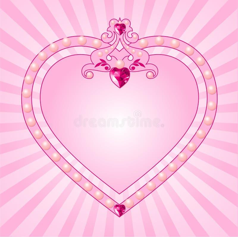 ramowy różowy princess ilustracja wektor