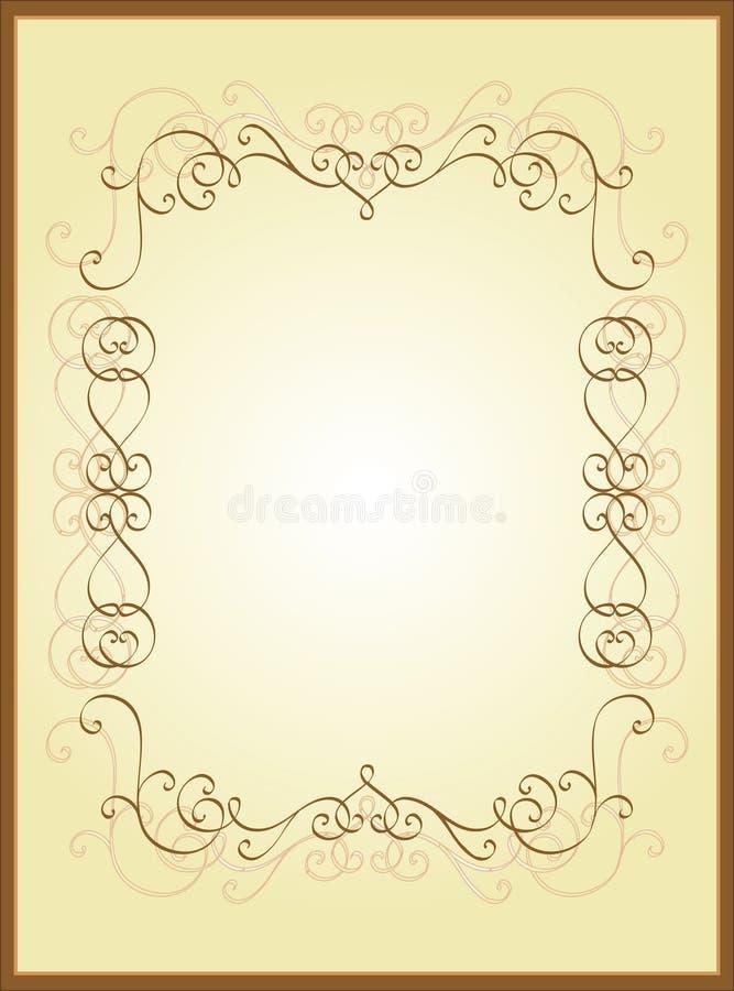 ramowy rocznik royalty ilustracja