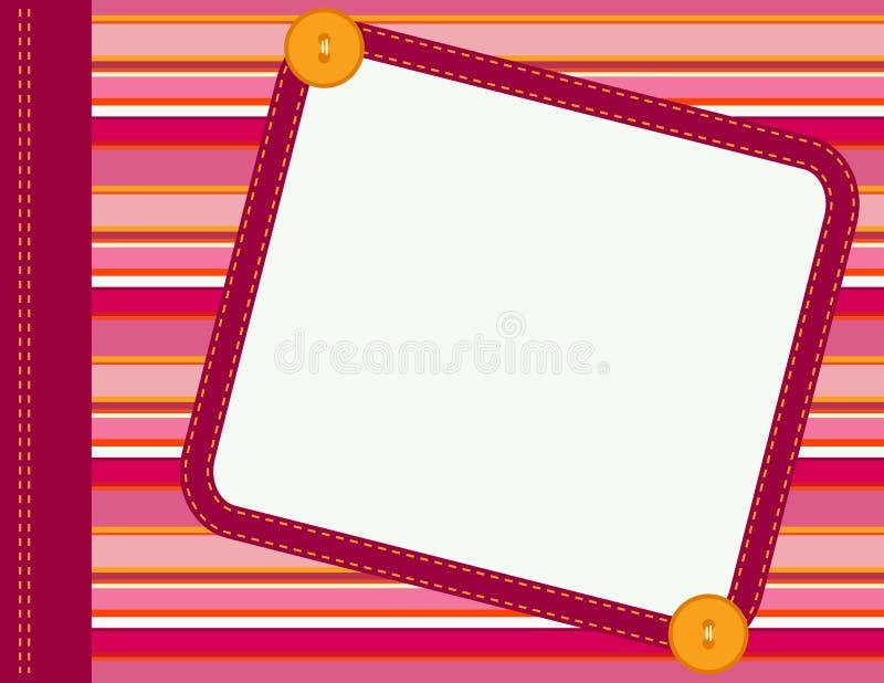 ramowy scrapbook ilustracja wektor