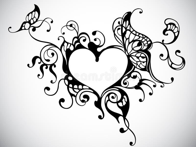 ramowy serce royalty ilustracja