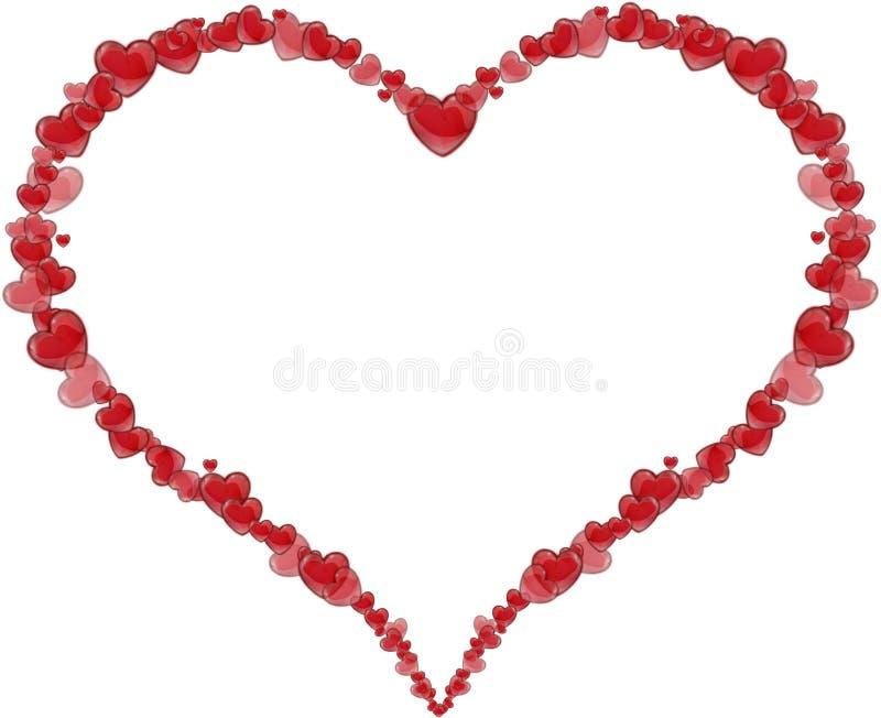 Ramowy serce robić serca dla walentynka dnia lub matka dnia ilustracja wektor