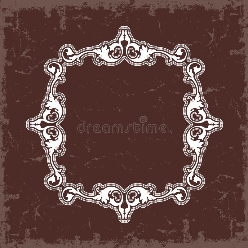 ramowy skryty ilustracyjny styl symetryczne rocznik wektor royalty ilustracja
