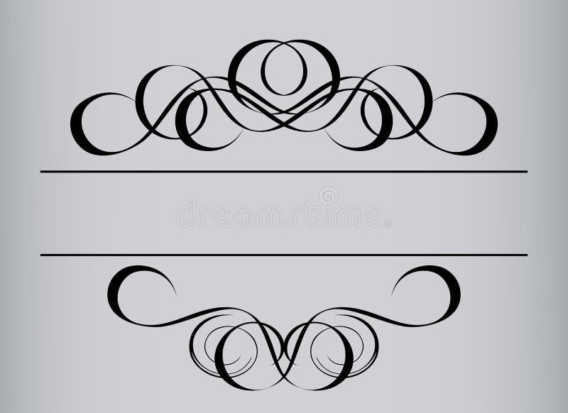 ramowy stylowy rocznik ilustracji