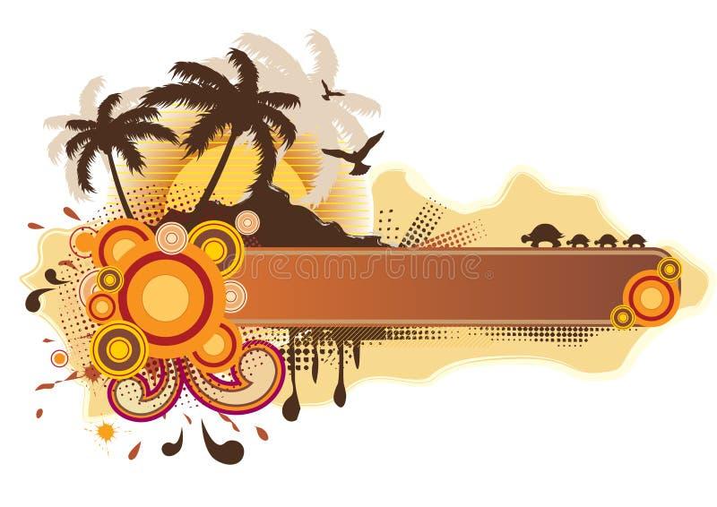 ramowy tropikalny ilustracji