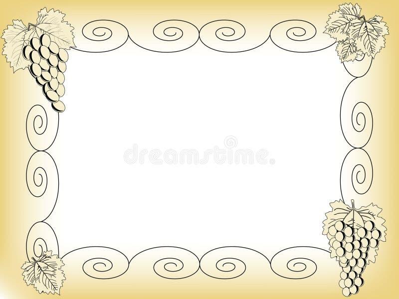 ramowy winogrono ilustracja wektor
