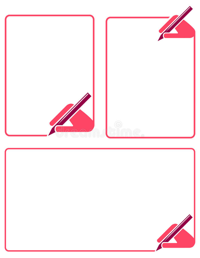 ramowy writing ilustracja wektor