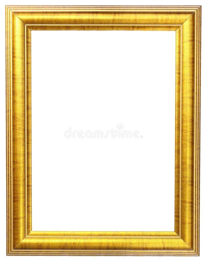 ramowy złocisty obrazek zdjęcie stock