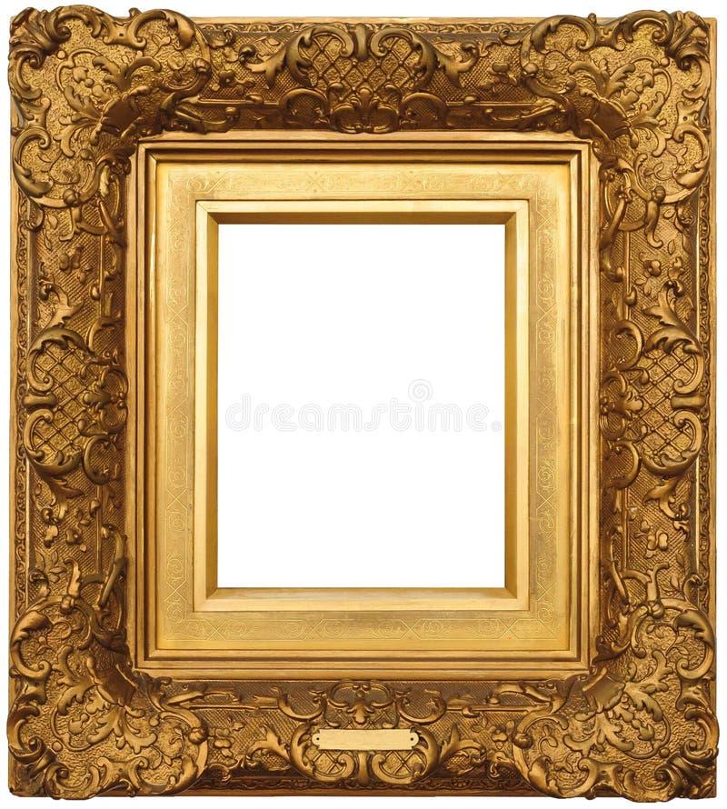 ramowy złocisty obrazek fotografia stock