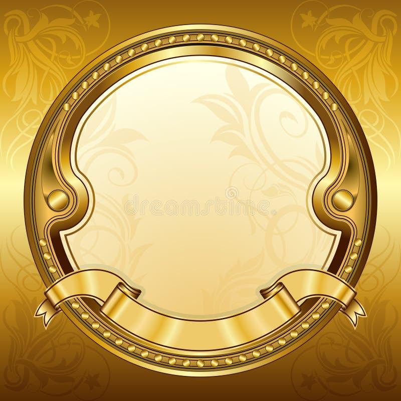 ramowy złocisty rocznik ilustracji