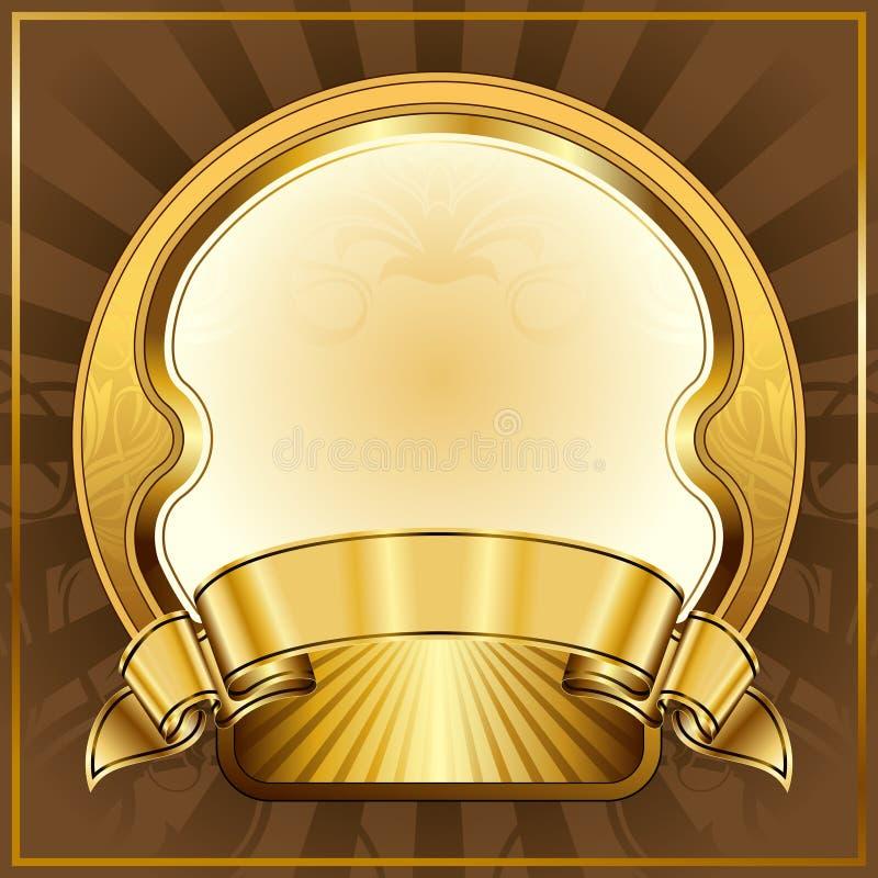 ramowy złocisty rocznik royalty ilustracja