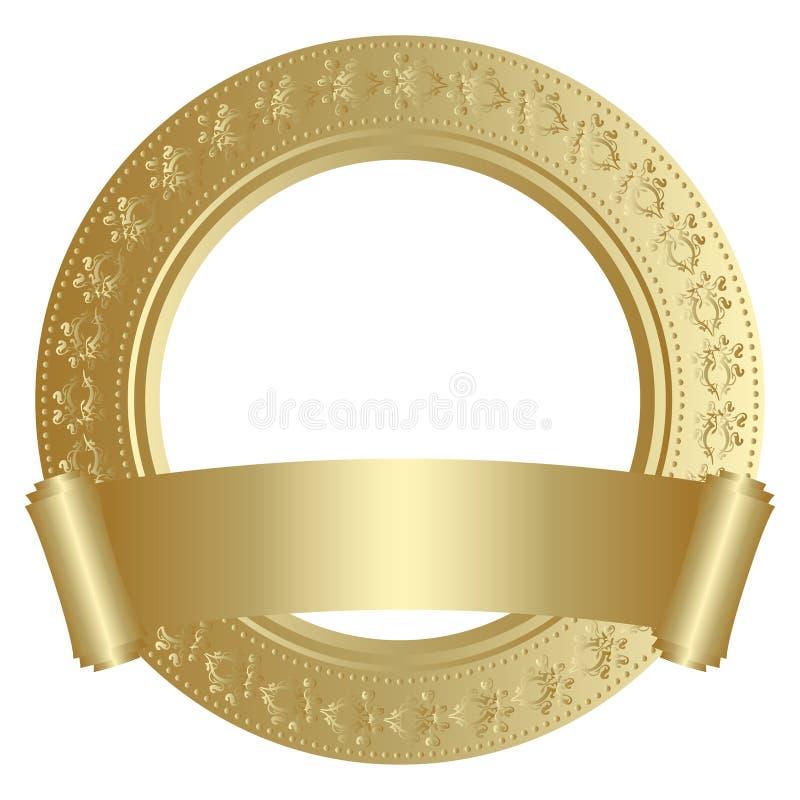 ramowy złoty ilustracja wektor