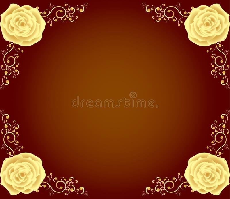 ramowy złoty luksus wzrastał