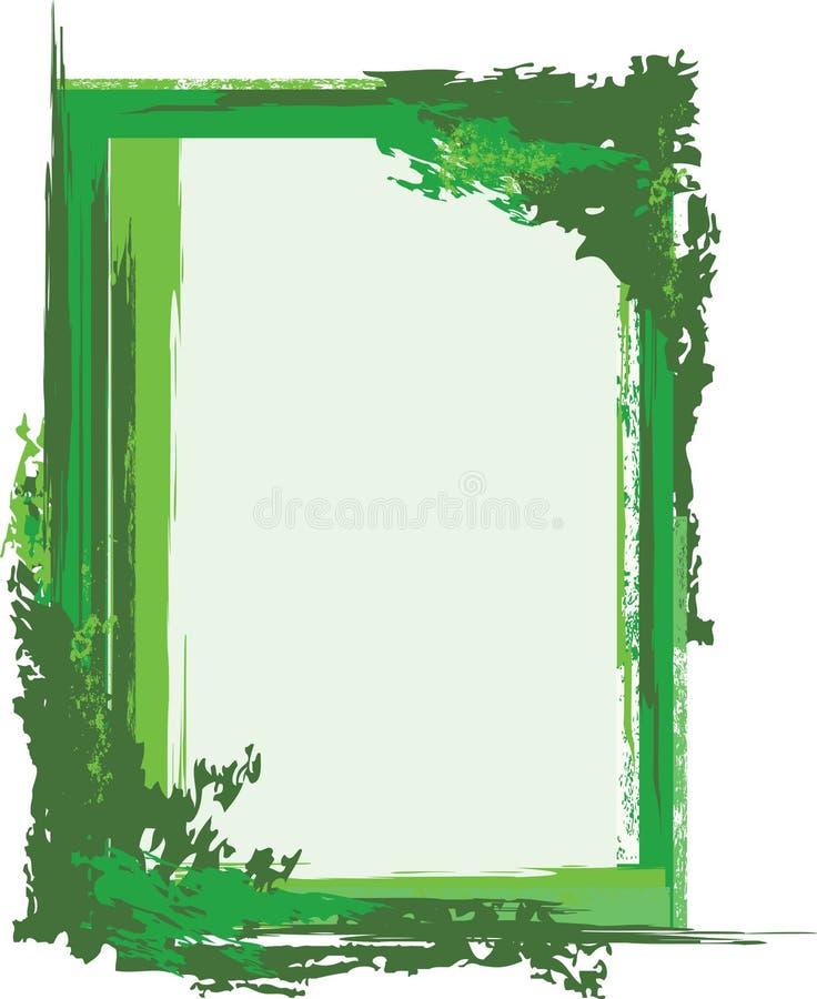 ramowy zielony grunge royalty ilustracja