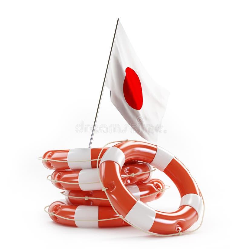 Ramp in Japan in maart 2011 stock illustratie