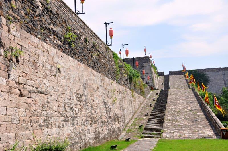 Ramp of Zhonghua Gate in Nanjing, China royalty free stock photos