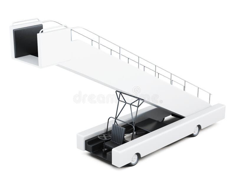 Rampa d'imbarco su un fondo bianco rappresentazione 3d illustrazione di stock
