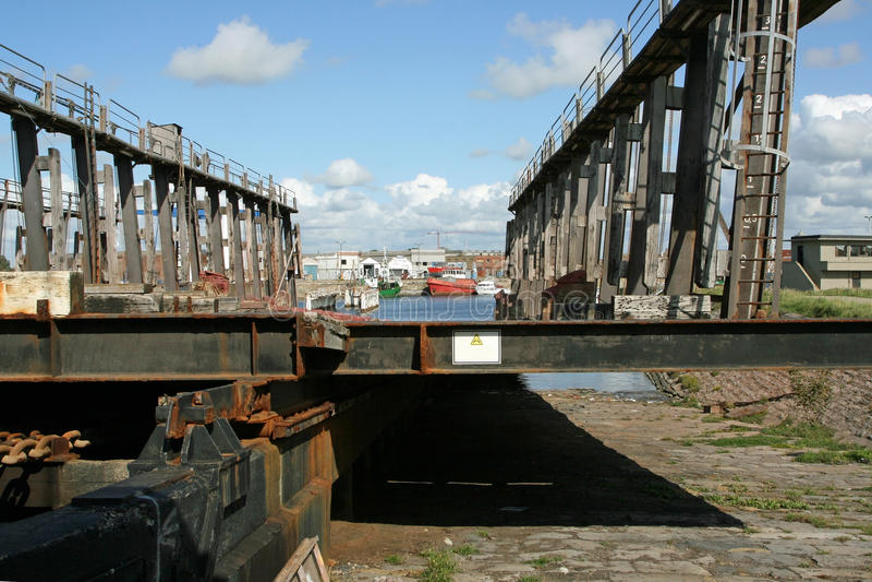 Rampa del cantiere navale fotografia stock libera da diritti