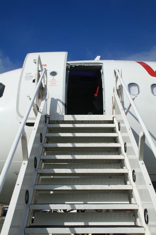 Rampa do avião fotografia de stock royalty free