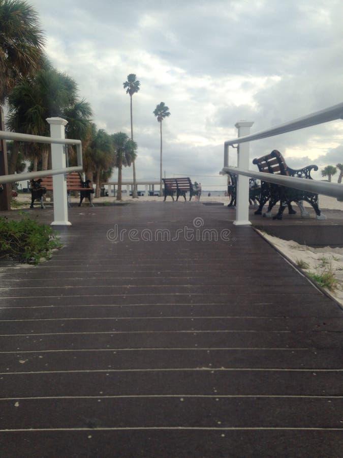 Rampa i boardwalk na plaży obraz royalty free