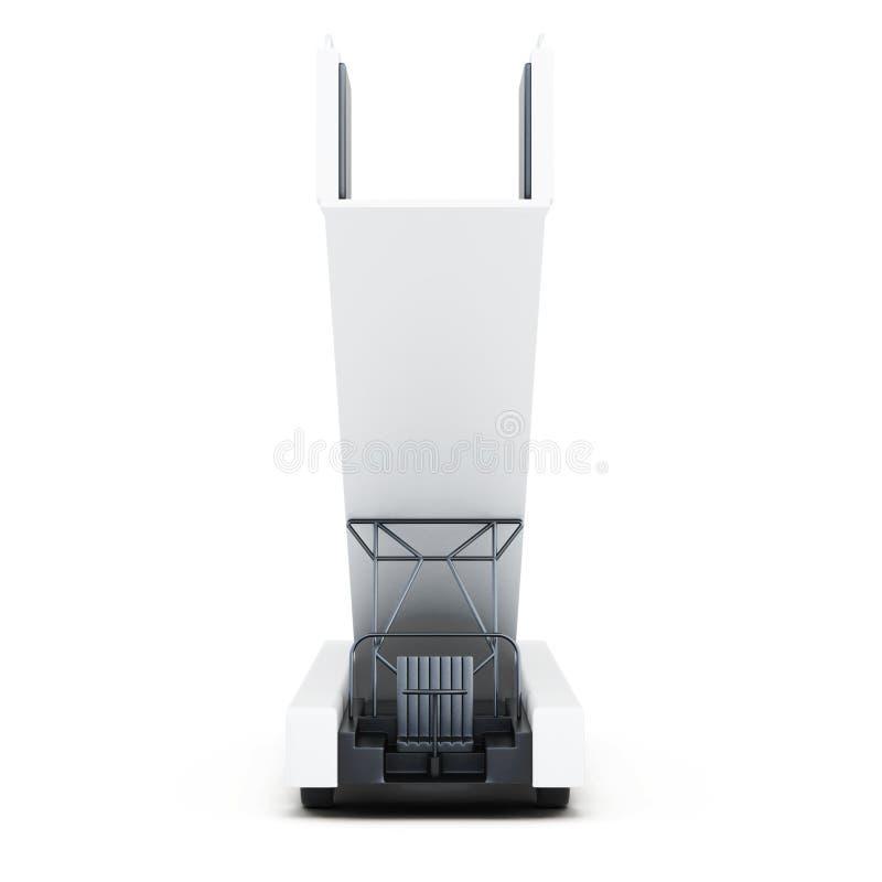 Rampa mobile di imbarco isolata su un fondo bianco 3d rendono illustrazione di stock