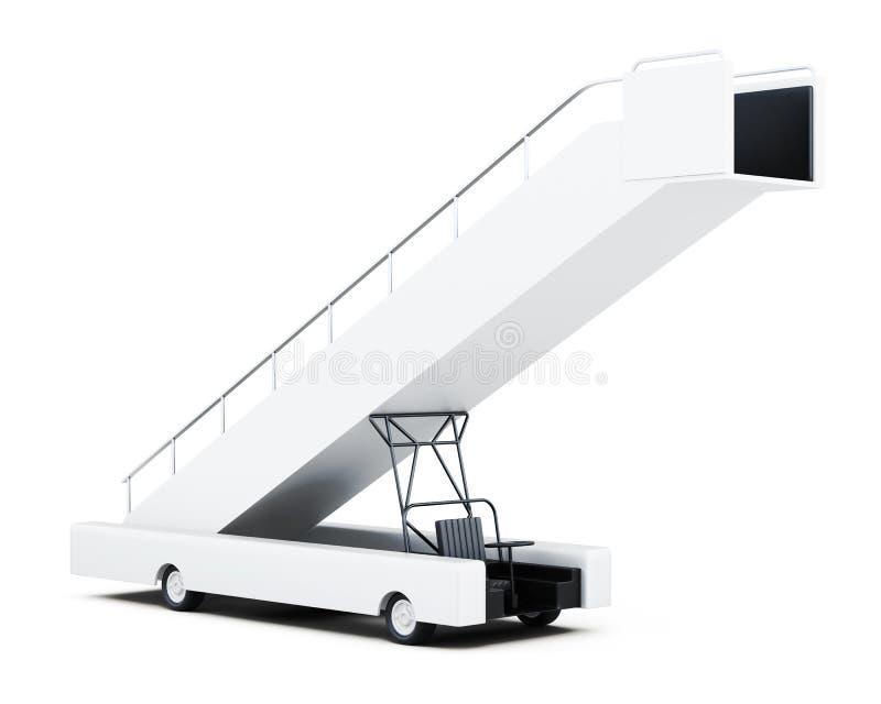 Rampa mobile di imbarco isolata su un fondo bianco renderi 3D royalty illustrazione gratis