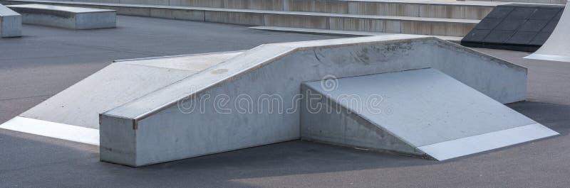 Rampa no parque do patim como um panorama imagens de stock