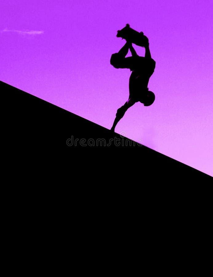 Rampa púrpura retra que anda en monopatín en Virginia Beach fotografía de archivo