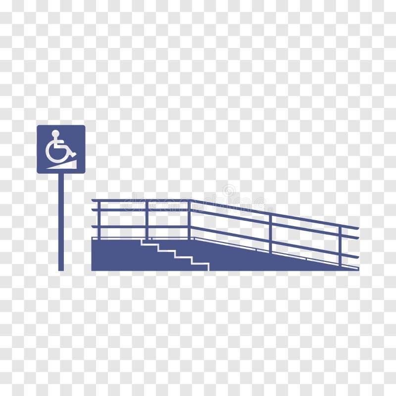 Rampa per il disabile illustrazione vettoriale