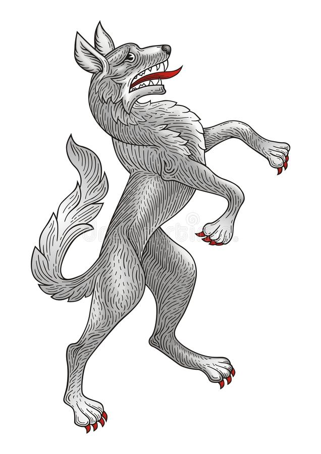 Free Rampant Wolf Royalty Free Stock Photos - 13521508