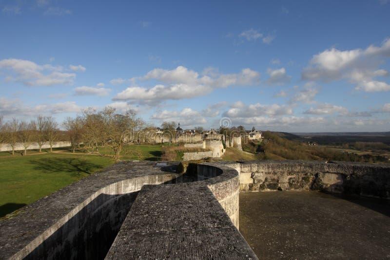 Rampart Coucy le Chateau in Frankreich lizenzfreie stockbilder