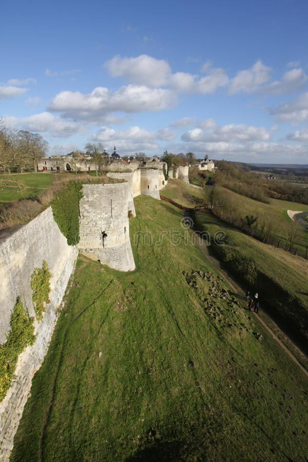 Rampart Coucy le Chateau in Frankreich stockfotos