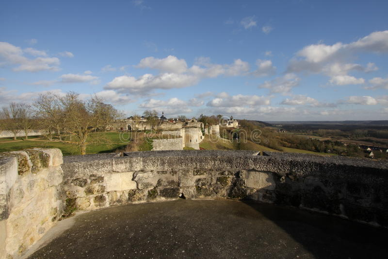 Rampart Coucy le Chateau in Frankreich stockbilder